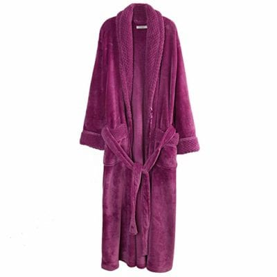 Richie House Women's Plush Soft Warm Fleece Bathrobe Gifts for Grandma