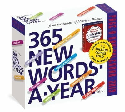 365 New Words-A-Year Page-A-Day Calendar 2019 Gifts for Teachers