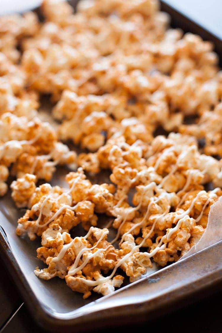 Easy Butterscotch Popcorn.
