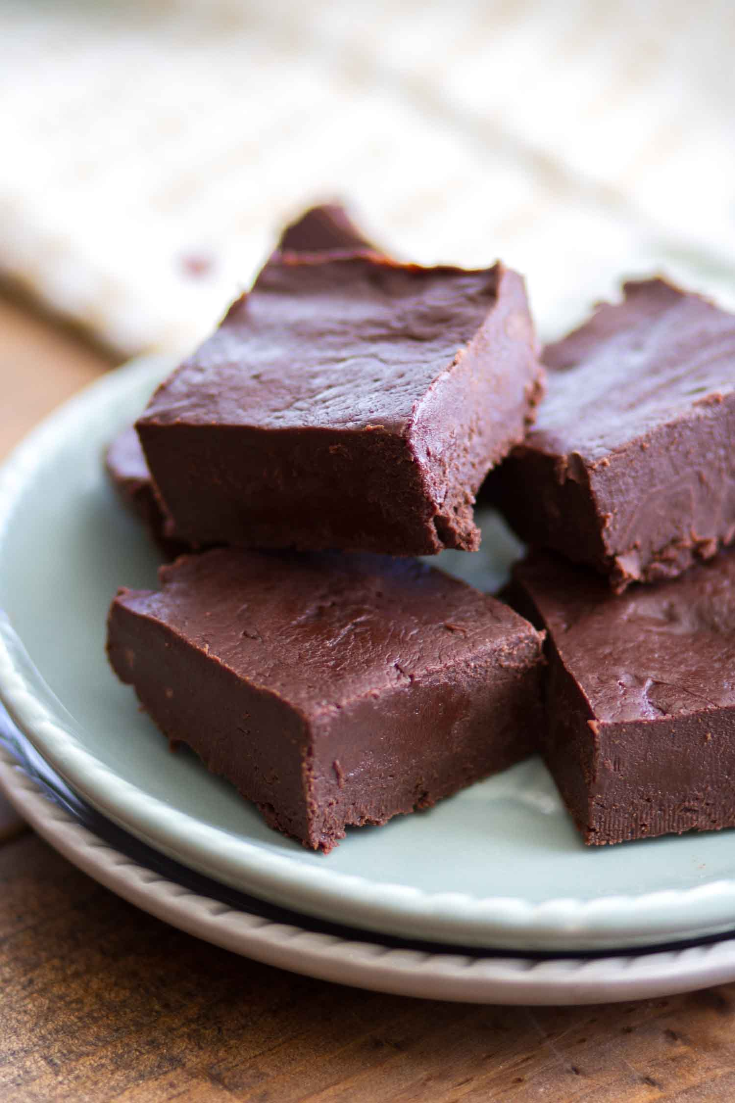 Chocolate fudge recipe on plate