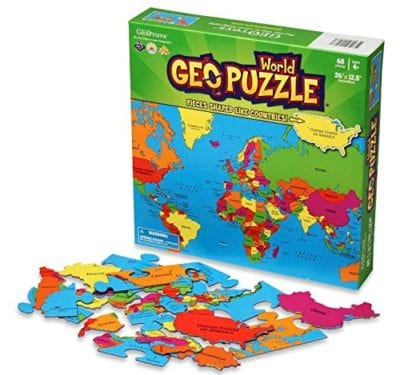 GeoPuzzle World Jigsaw Puzzle Gifts for Kids