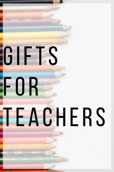 Gifts for Teachers Pinterest Image