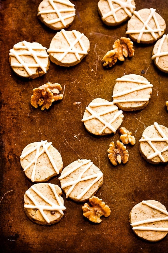 Slice and Bake Maple Cookies on baking sheet