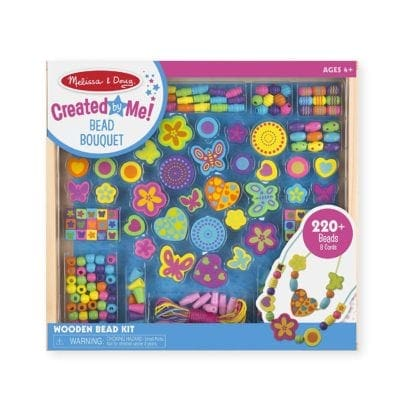 Melissa and Doug Bead Boquet Wooden Bead Set Gifts for Girls