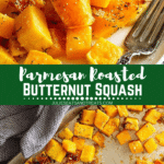 Parmesan Roasted Butternut Squash Pinterest
