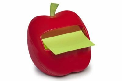 Post-it Pop-up Notes Dispenser Apple Shaped Gifts for Teacher