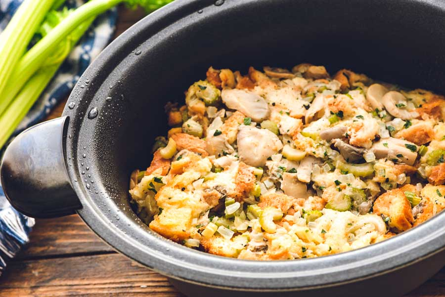 Stuffing in Crock Pot Liner