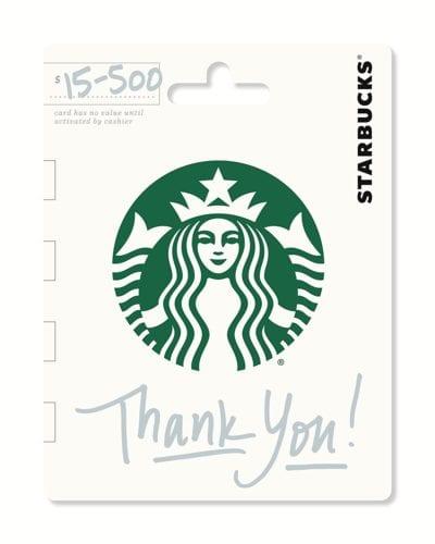 Starbucks Gift Card Gifts for Teachers