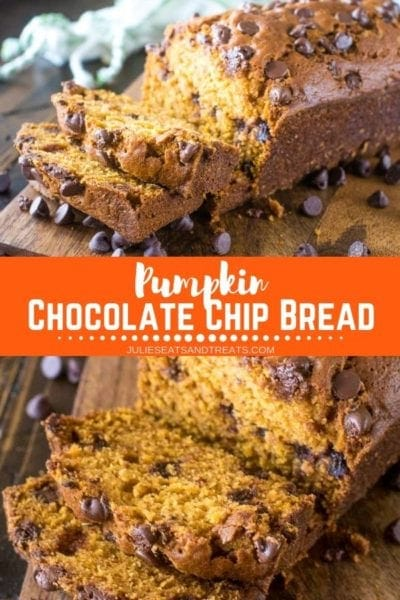 Pumpkin Chocolate Chip Bread Pinterest Collage