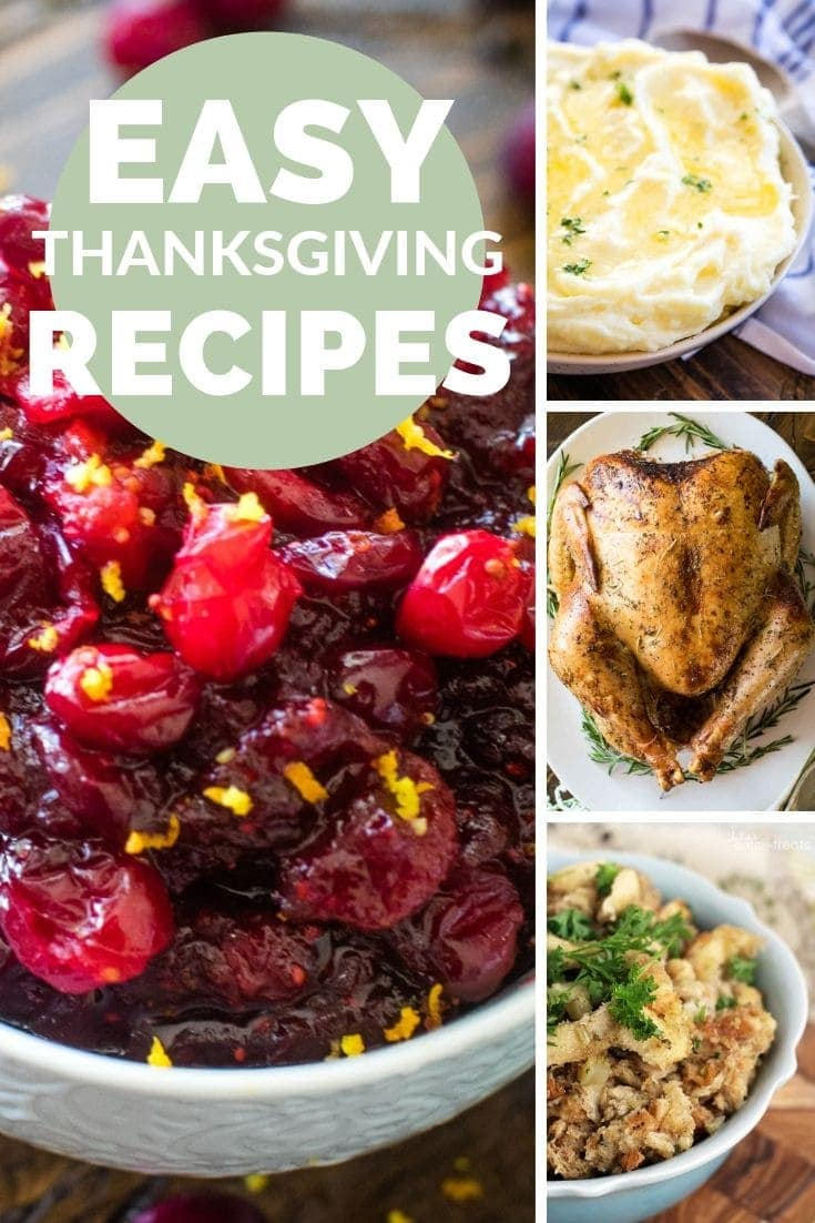 Thanksgiving Featured Recipes Pinterest Image