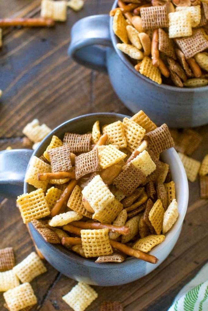 Homemade Chex recipes in bowl