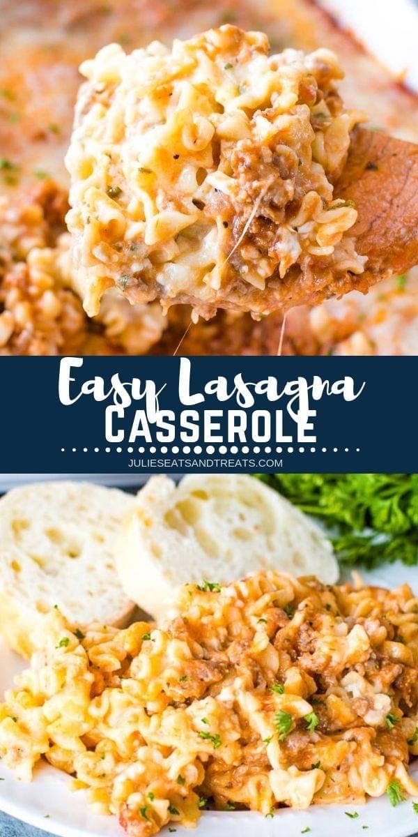 Easy Lasagna Casserole Pinterest