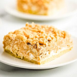 Salted Nut Roll Bars Recipe Square Cropped of bar