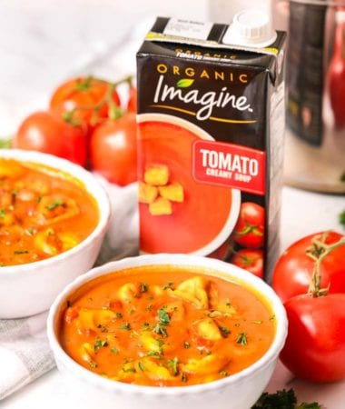 Bowls of Tortellini Tomato Soup