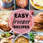 Pin Collage of Freezer Meal Recipes