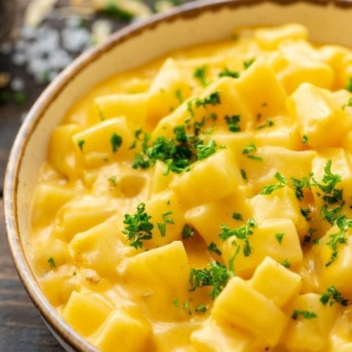 Cheesy Potatoes in bowl