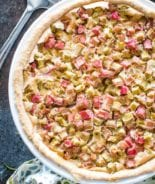 Pie Plate with Rhubarb Pie Recipe