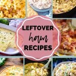 Pin Image for Easy Leftover Ham Recipes