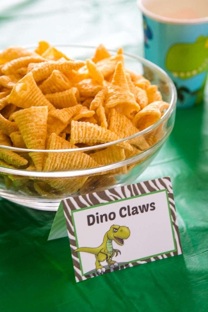 Dino Claws Themed Food
