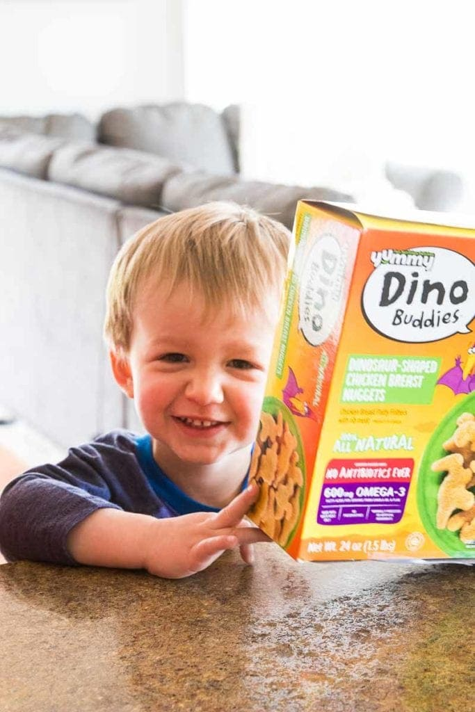 Child with Dino Buddies Box