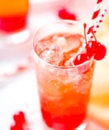 Tall Glass of Shirley Temple Drink Recipe