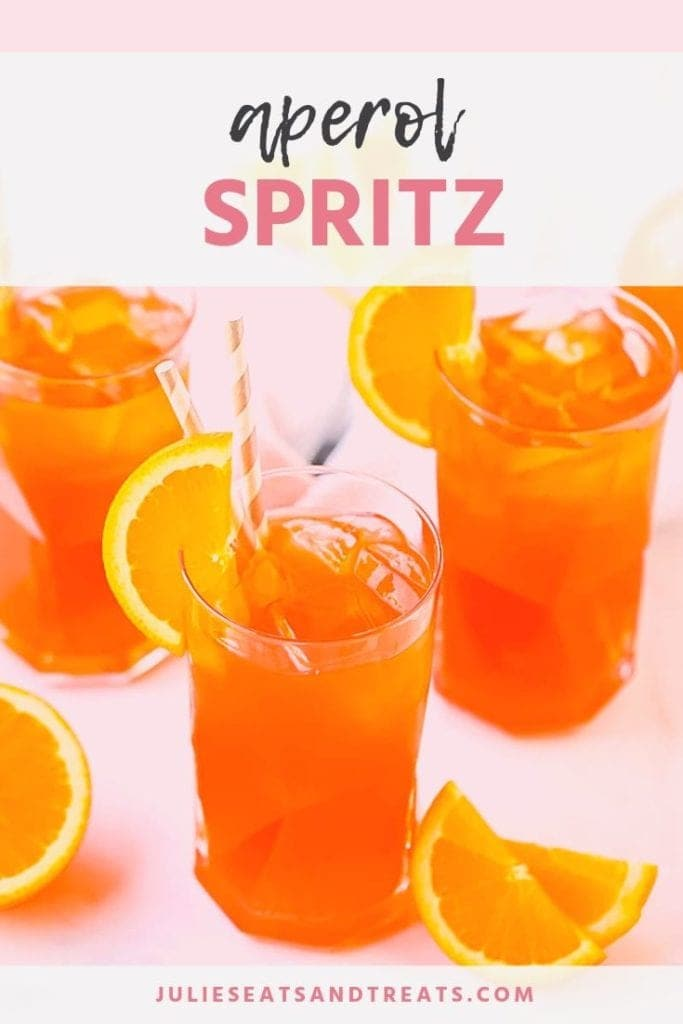 Aperol spritz in a glass with a slice of orange