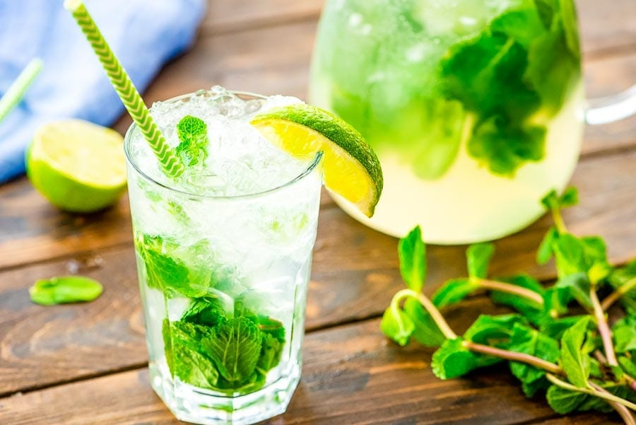 Mojito Recipe prepared in glass