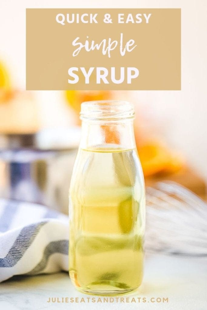 Simple syrup in a glass jar