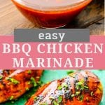 Pinterest Image for BBQ Chicken Marinade