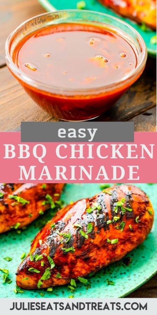 Pinterest Image for BBQ Chicken Marinade