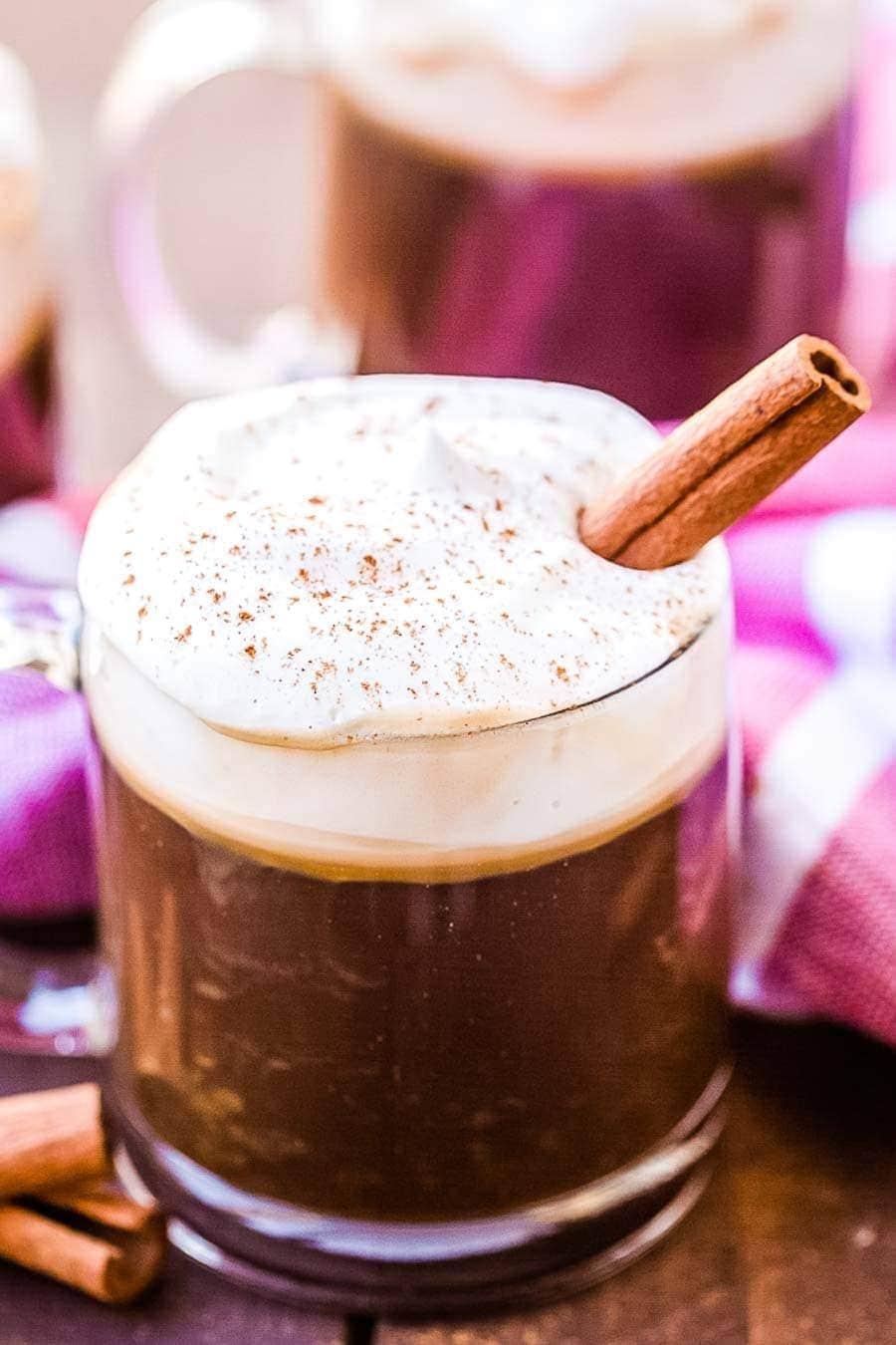 Irirsh Coffee Recipe in glass mug