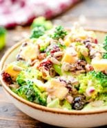 Broccoli Salad prepared in bowl