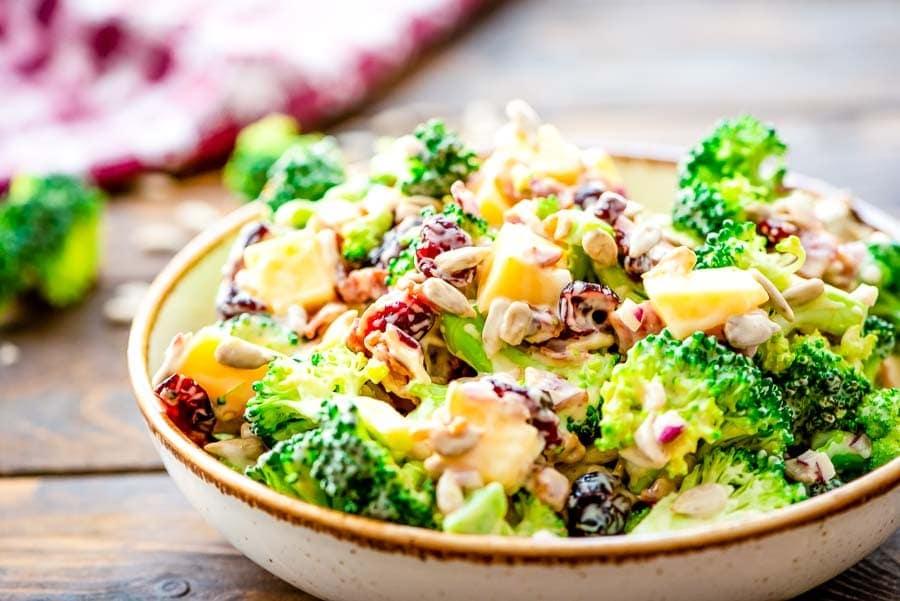 Broccoli Salad recipe in bowl