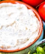 Homemade Ranch Dip prepared in bowl