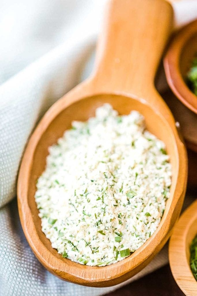 Ranch Seasoning Recipe mixed in serving dish