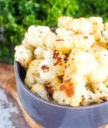 Roasted Cauliflower Recipe in bowl