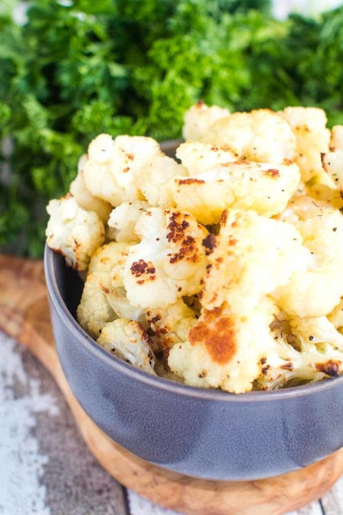 Roasted Cauliflower Recipe in bowl