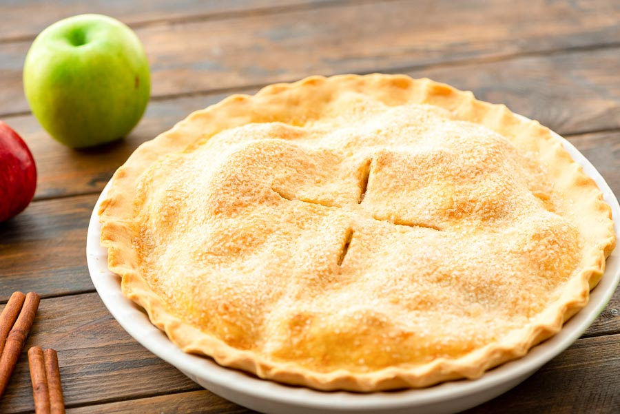 Apple Pie in pie plate