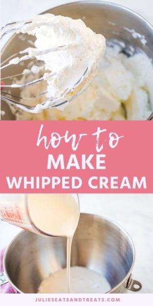 HOW TO MAKE WHIPPED CREAM recipe Pins