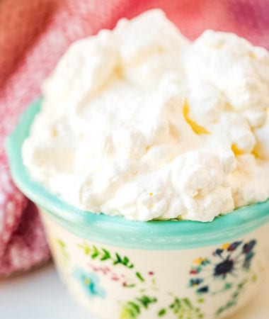 Whipped Cream in small decorative bowl