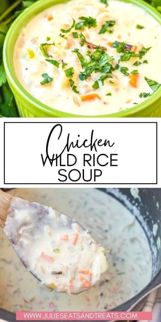 Chicken Wild Rice Soup JET Pinterest Image