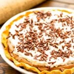 White Pie Dish with French Silk Pie