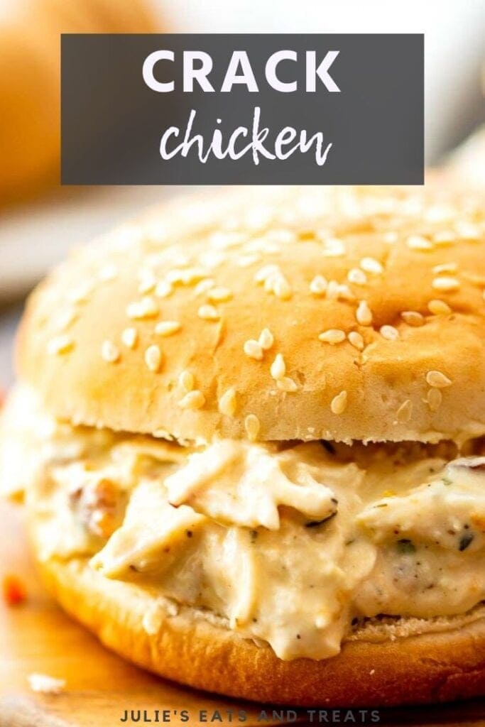 Crack chicken on a sesame seed bun