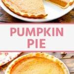 pumpkin pie recipe Pins