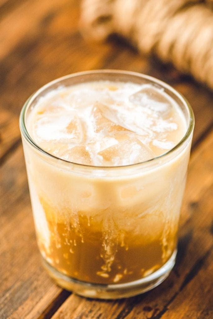 Unmixed White Russian in glass