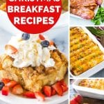 Christmas Breakfast Recipe photo collage