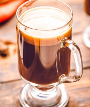 Glass of Hot Buttered Rum
