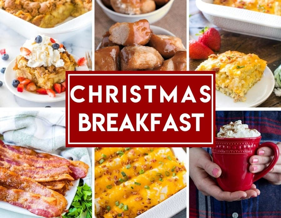 Photo collage of breakfast recipes