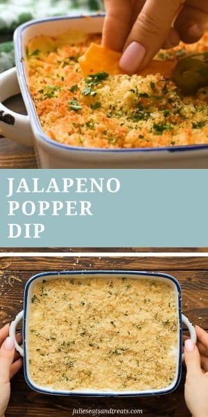 jalapeno popper dip Pin collage