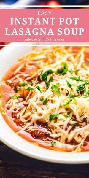 Pressure cooker lasagna soup pinterest image